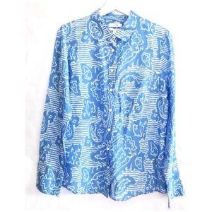 NWT J. Crew Boy Shirt in oversized paisley, Sz 10